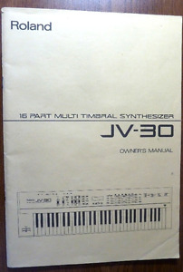 Roland JV-30 Owners manual Synthesizer