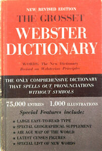 Dictionnaire Anglais, Webster Dictionary, The grosset