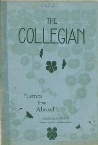 COLLEGIAN- YEARBOOK (ST THOMAS COLLEGIATE INSTITUTE) STCI 1922