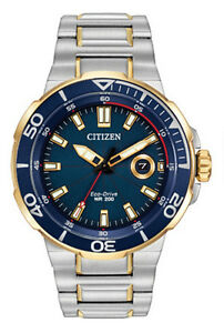NEW Citizen AW1424 54L Eco Drive Endeavor 200 METERS DIVERS