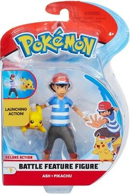 Pokemon Battle Feature Figure Pack (4.5-Inch) - Ash & Pikachu