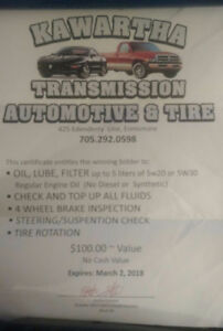 $40 for $100 worth of auto service at Kawartha Transmission