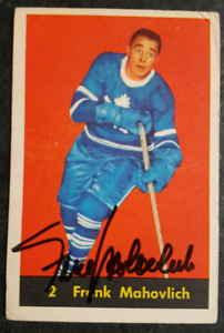 Frank Mahovlich Autographed Card