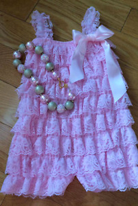 Baby girl Romper & necklace