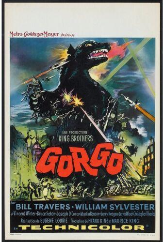 Gorgo Belgian Movie Poster 1961 Travers Sylvester Seton    *Hollywood Posters*