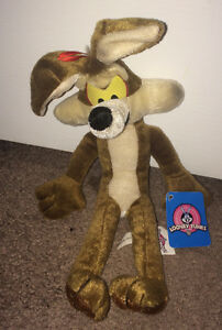 "Will E. Coyote 12"" Plush Stuffed Animal Looney Tunes by Ganz NEW"