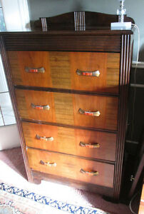 $140 FIRM Stunning Brown Tall Boy Solid Wood, 2 colour