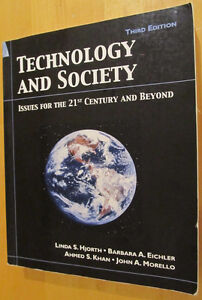 Technology and Society - Third (3rd) Edition - Hjorth Kitchener / Waterloo Kitchener Area image 1