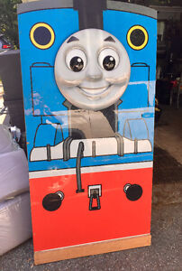 Wooden Thomas the Train Wall Plaque