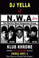 Friday, Sept. 4th 2015 // DJ YELLA of NWA LIVE at Khrome!!!