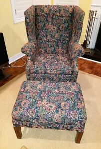 Wingback Chair and Ottoman - REDUCED PRICE!