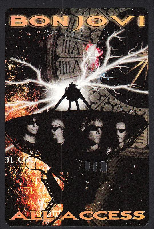 Bon Jovi RARE ORIGINAL 2003 Bounce Tour Backstage Foil Pass for Laminate/Lanyard