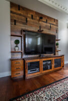 Family Room Wall Unit Fireplace Surround Storage Media Console