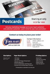 Save up 50% on commercial printing @York University