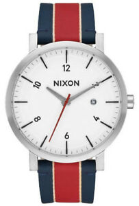 NEW Nixon Rollo A945-1854-00 Unisex St.Steel/Leather Watch