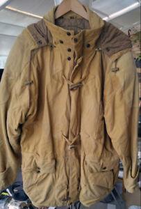 Winter Coat deer skin leather man M with hood, excellent $25