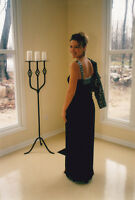 GORGEOUS COUTURE EVENING GOWN AND SEQUIN JACKET - DESIGNER SAMPL