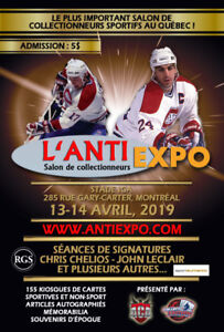 L'Anti-Expo 11e édition, Cartes de hockey, baseball, autographes
