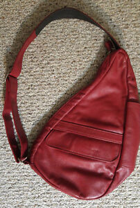 Red Leather Bag by Ameribag