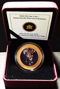 2010 - Santa and the Red-Nosed Reindeer 50 Cent Coin