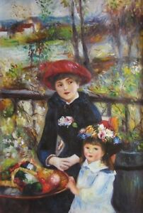 Oil Painting on Canvas Pisarro Monet Renoir, a mother and child