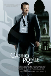 Casino Royale Movie Poster on Plak Mounting