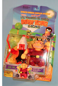 1999 Nintendo Diddy Kong WIZ PIG Racing Action Figure Toy