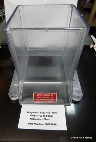 Clear New Style Hopper Top Replaces 00007113 For Hollymatic Super 54