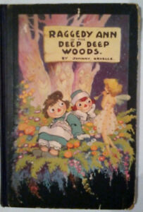 RAGGEDY ANN signed book 1930 first ed.