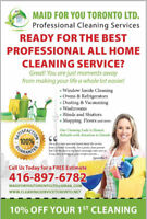 Cleaning Lady Available! 416-897-6782
