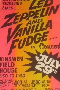 WANTED  - LED Zeppelin Edmonton poster  May or July 1969