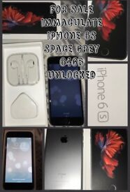 Immaculate unlocked Iphone 6s 64gb