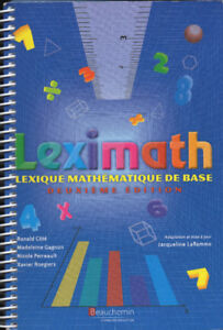 Leximath : Lexique mathématique de base : 2e édition