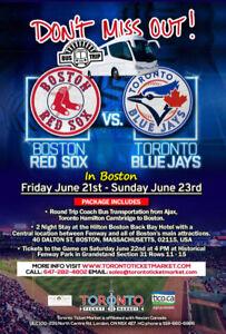 Toronto Blue Jays vs Boston Red Sox TRAVEL PACKAGE TO BOSTON