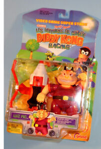 1999 Nintendo Diddy Kong WIZ PIG Racing Action Figure Toy N64
