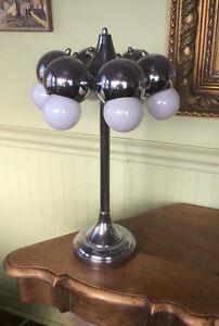 Lampe table RÉTRO VINTAG SPACEAGE CHROME