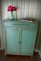 Antique 1930s China/Storage Cabinet -- Rustic/Shabby Chic