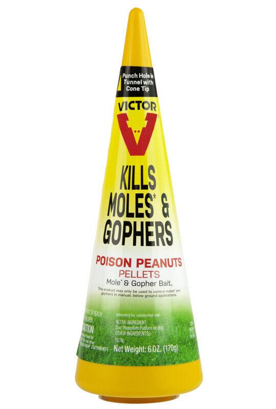 Victor 6006 Mole / Gopher Poison Peanuts Kills Rodent Pests Zinc Phosphide