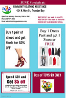 Week June 19 to 24th, Specials at CCA !!