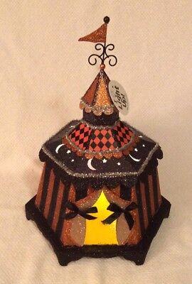 Circus Halloween Decorations (Halloween Circus Tent Light Up Prop Harlequin Tabletop Decoration NWT)