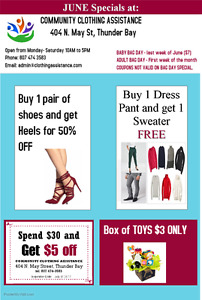 Week June 19 to 24th, Specials !!