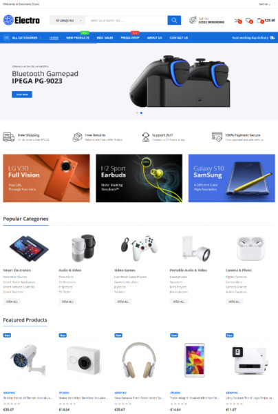 Ready online store shop for sale - Electronic