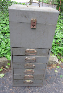 Vintage Machinist Drawers Chest