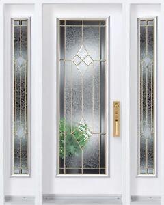 Fenêtre porte d'entrée neuve 22X64 modèle Tradition avec Cadre
