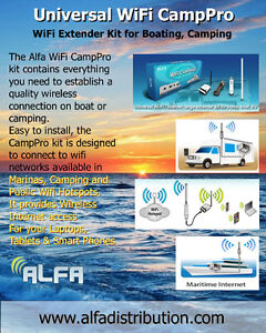 WiFi Booster Kit for Boating, Easy Connect to Wifi Hotspots !