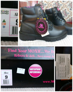 Brand New Ladies Leather Steel toe Work boots