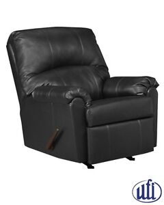 Brand NEW Black Bonded Leather Recliner! Call 705-253-1110!