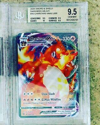 Pokemon Charizard VMAX BGS 9.5 GEM MINT 020/189 English Darkness Ablaze NEW