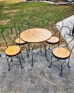Antique Ice Cream/Bistro Set
