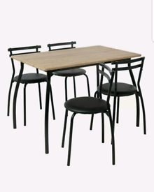 Brand new oak effect dining set table and chairs